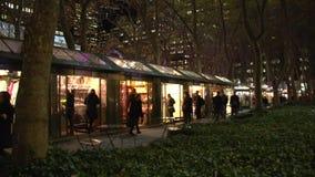 NYC-Park nachts (1 von 5) stock video footage