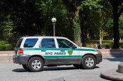 NYC Parks Car Royalty Free Stock Photography