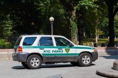 NYC parkt Auto Lizenzfreie Stockfotografie