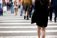 NYC pedestrians Royalty Free Stock Images