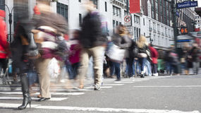 NYC Pedestrians Stock Photos