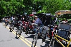 NYC:  Pedicabs в Central Park Стоковые Фотографии RF