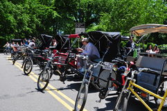 NYC:  Pedicabs in Central Park Royalty Free Stock Photos