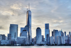 NYC pendant le matin Photographie stock libre de droits