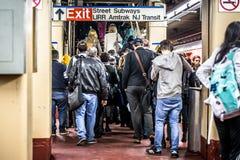 NYC-pendlare Penn Station Arkivbild