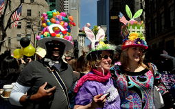 NYC: People at 2014 Easter Parade Royalty Free Stock Images