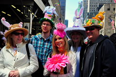 NYC: People at 2014 Easter Parade Royalty Free Stock Photos