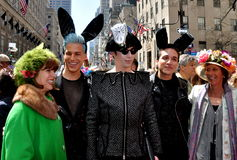 NYC: People at 2014 Easter Parade Stock Image