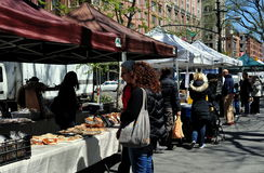 NYC: People at Farmer's Market stock photo