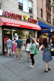 NYC: People Queue to Buy Bagels Stock Image