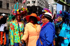 NYC: People taking Selfie at Easter Parade Royalty Free Stock Photography