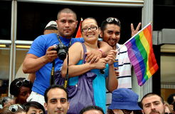 NYC: People Viewing Gay Pride Parade Stock Photo