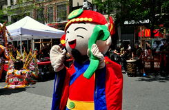 NYC: Performer at Taiwanese Festival Stock Photography