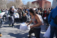The 2015 NYC Pillow Fight 217 Royalty Free Stock Photo