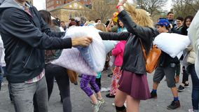 The 2016 NYC Pillow Fight Day Part 2 48 Royalty Free Stock Images