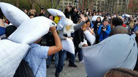 The 2016 NYC Pillow Fight Day Part 2 62 Stock Photos