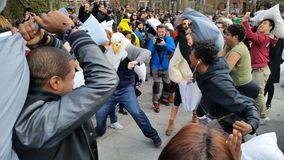 The 2016 NYC Pillow Fight Day Part 2 65 Royalty Free Stock Photos