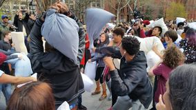 The 2016 NYC Pillow Fight Day Part 2 66 Royalty Free Stock Image