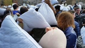 The 2016 NYC Pillow Fight Day Part 2 69 Stock Image