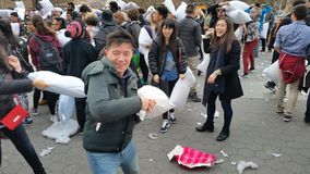 The 2016 NYC Pillow Fight Day Part 2 88 Stock Image