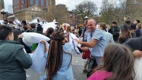 The 2016 NYC Pillow Fight Day Part 2 92 Royalty Free Stock Photo