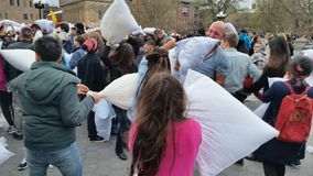 The 2016 NYC Pillow Fight Day Part 2 96 Royalty Free Stock Photo