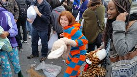 The 2016 NYC Pillow Fight Day Part 3 40 Stock Photos