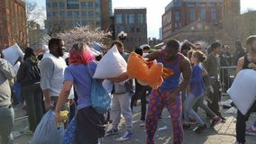 The 2016 NYC Pillow Fight Day Part 4 16 Royalty Free Stock Image