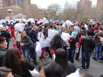 The 2016 NYC Pillow Fight Day 53 Stock Photos