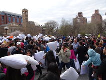 The 2016 NYC Pillow Fight Day 55 Stock Image