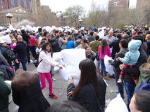 The 2016 NYC Pillow Fight Day 60 Royalty Free Stock Image