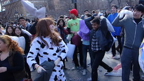 The 2014 NYC Pillow Fight 13 Royalty Free Stock Image