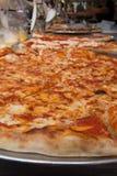 NYC Pizza. Authentic New York City Italian style pizzeria pizza pie Stock Photo