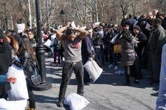 2015 NYC poduszki walka 215 Obrazy Royalty Free