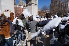 2015 NYC poduszki walka 201 Fotografia Royalty Free
