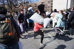 2015 NYC poduszki walka 184 Zdjęcia Royalty Free