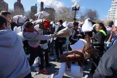 2015 NYC poduszki walka 104 Zdjęcia Royalty Free