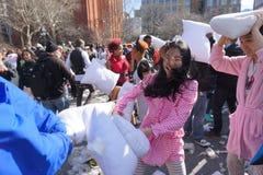 2015 NYC poduszki walka 78 Zdjęcie Royalty Free