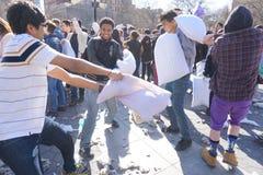 2015 NYC poduszki walka 44 Zdjęcia Stock