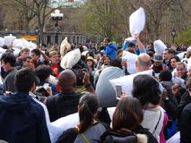2016 NYC poduszki walki dzień 61 Fotografia Royalty Free