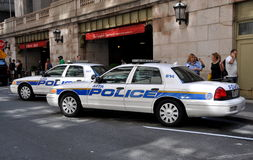 NYC: Police Cars at Grand Central Station Royalty Free Stock Photography