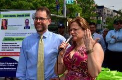 NYC: Políticos no evento ambiental Fotos de Stock Royalty Free