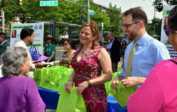 NYC: Políticos no evento ambiental Fotografia de Stock Royalty Free