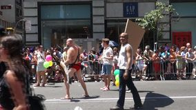 2014 NYC Pride March stock video footage