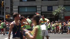 2014 NYC Pride March stock video