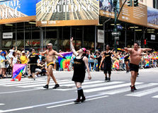 NYC Pride March on June 28, 2009 Stock Photos