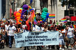 NYC: 2014 Pride Parade gay Imágenes de archivo libres de regalías
