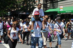 NYC : PROMENADE 2012 DE SIDA Photos stock