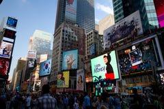 NYC, publicidad del Times Square foto de archivo
