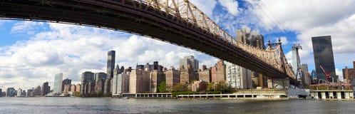 NYC Queensboro Brückenpanorama Lizenzfreies Stockfoto